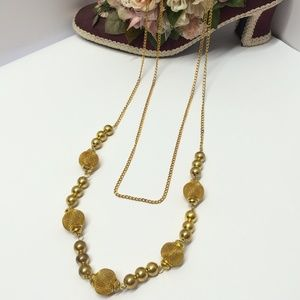 Vintage Gold tone Layered Necklace